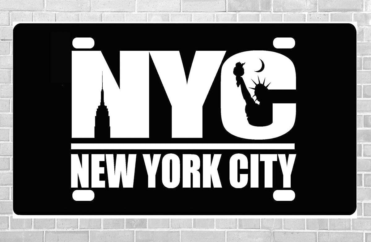 YFULL New York Decorative License Plate Metal Sign 15x30cm