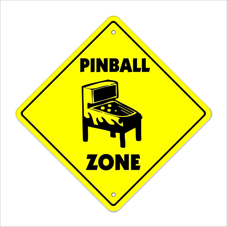 Pinball Crossing Sign Zone Xing   Indoor/Outdoor   12