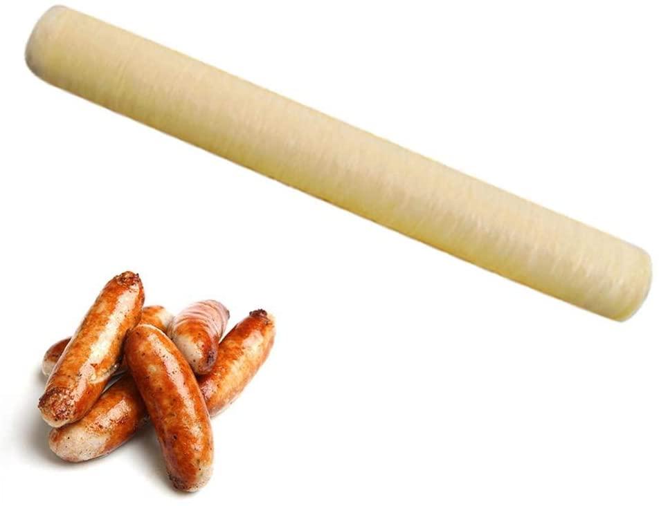 Heitaisi Sausage Casing Ham, Sausage Collagen Casing Roasted Dried Sausage Hot Dog Collagen Wrapping 14M20MM