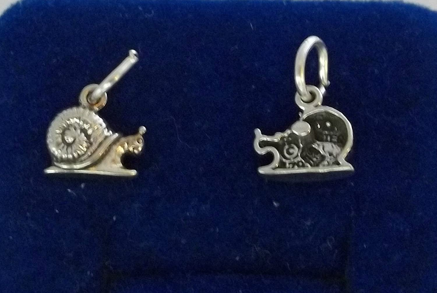 Charm - Sterling Silver - Jewelry - Pendant - Snail