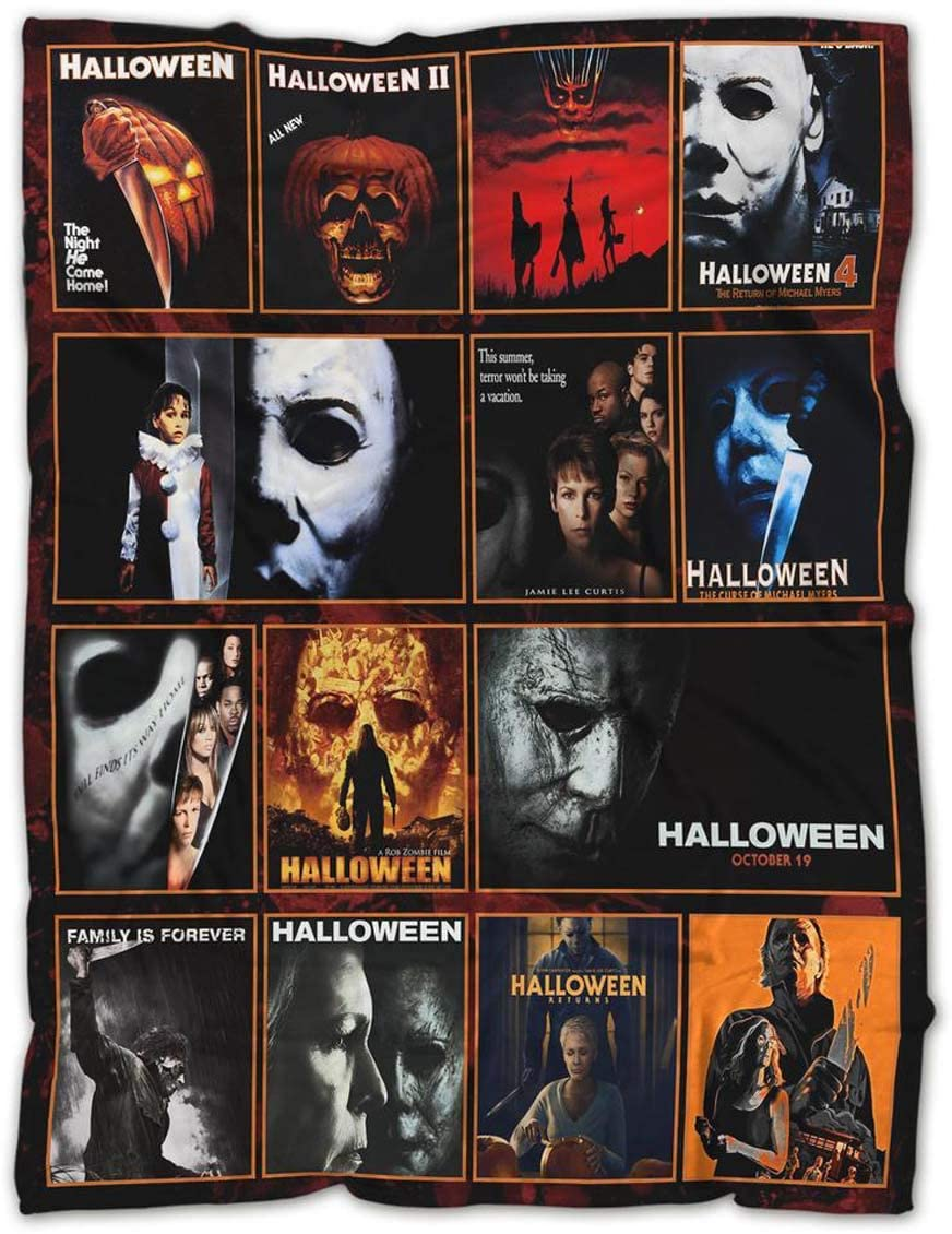Happy Halloween Blanket,Michael Myers Halloween Movies, for The Best Friend -Horror Blanket-Monster Blankets Mens Fleece Blanket