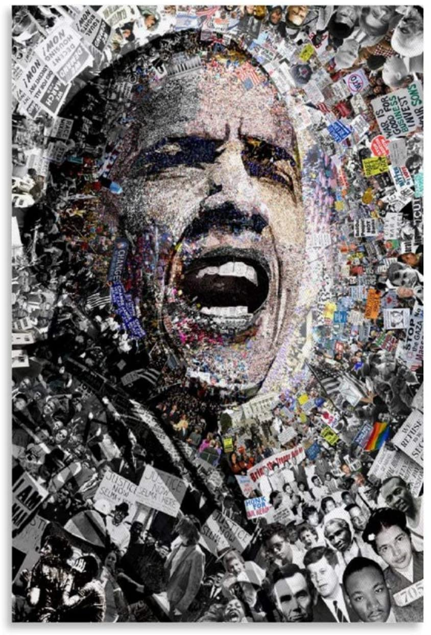 WENER U.S. President Barack Obama ,Art Cool Colored Drawing Poster Decorative Painting Canvas Wall Art Living Room Posters Bedroom Painting 12x18inch(30x45cm)
