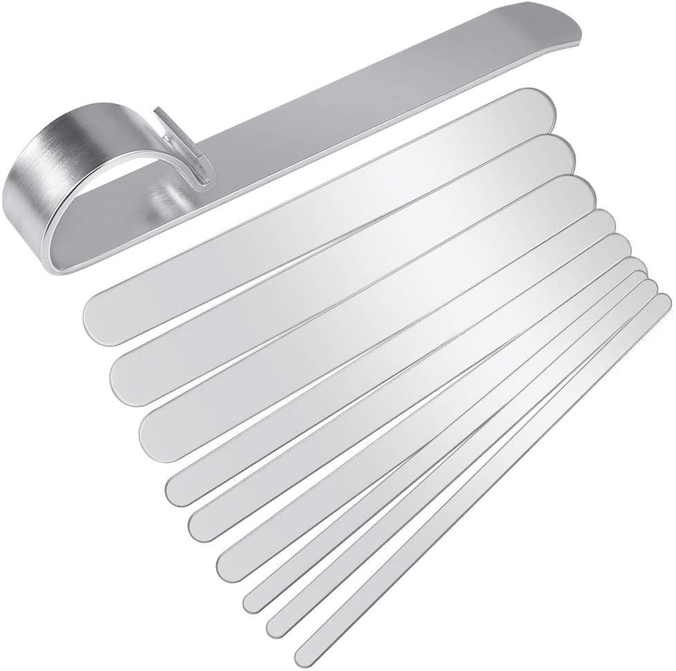 Amytalk Bracelet Bending Bar Kit with 9 Pcs Stainless Steel Bracelet Blank - Tool for Bending Metal Stamping Blank Bracelets and DIY Bracelet Jewelry Making
