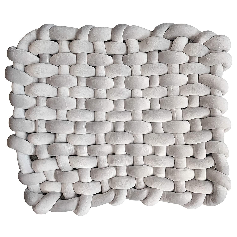 UrbanRed Knotted Floor Mat - Floor Pillow for Kids, Floor Pillows for Adults, Floor Cushion, Floor Pillows for Kids Reading Nook for Kids, Baby Rug, Floor Cushions for Kids, Floor Seating (Grey)
