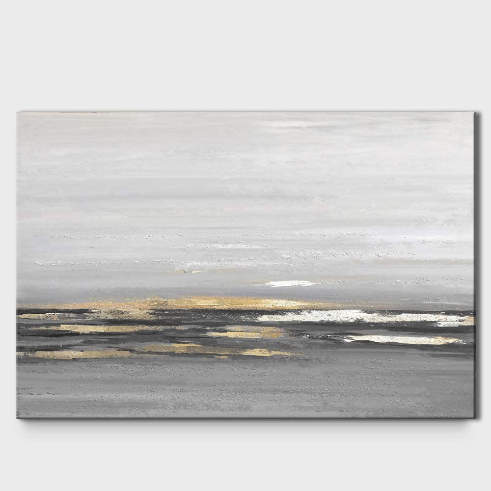 signwin Canvas Wall Art Abstract Seascape Painting Canvas Prints Home Artwork Decoration for Living Room,Bedroom - 24x36 inches