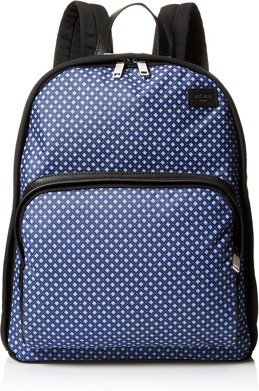 Jack Spade Men's Mosaic Tile Nylon Tech Bookpack, Blue, One Size