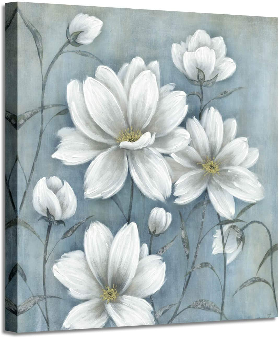 Floral Canvas Picture Wall Art: Magnolia Flowers Blossom Painting Wall Art for Bedroom (36'' x 36'' x 1 Panel)