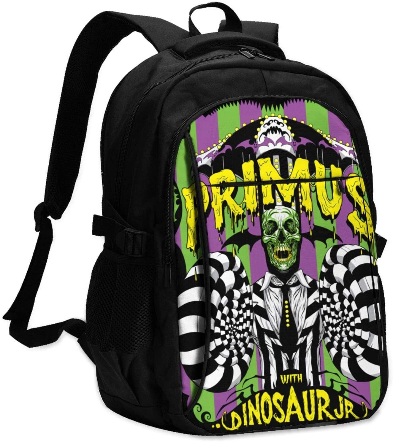 Primus USB Backpack Fashion Personality Cool Large-Capacity Men and Women Backpack