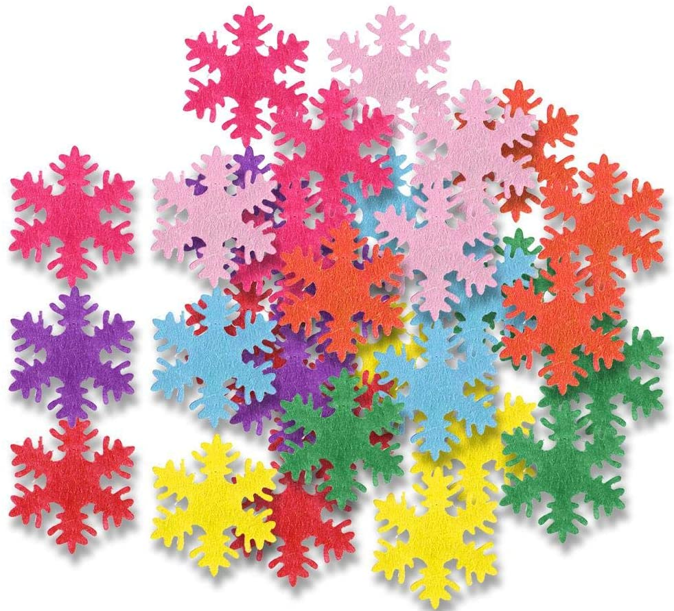 Attractive Snowflake Decoration, Vivid Snowflakes Confetti, 500Pcs Party Decor for Holiday Decor Winter Wedding Decor Christmas Decor