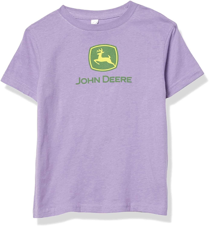 John Deere Toddler Girl Logo Tee-Lavender