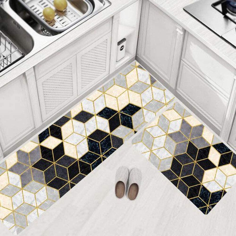 Anti Fatigue Kitchen Floor Mat, Comfort Standing Mats,Waterproof PVC Non Slip Washable for Indoor Outdoor (Hexagon,4575)