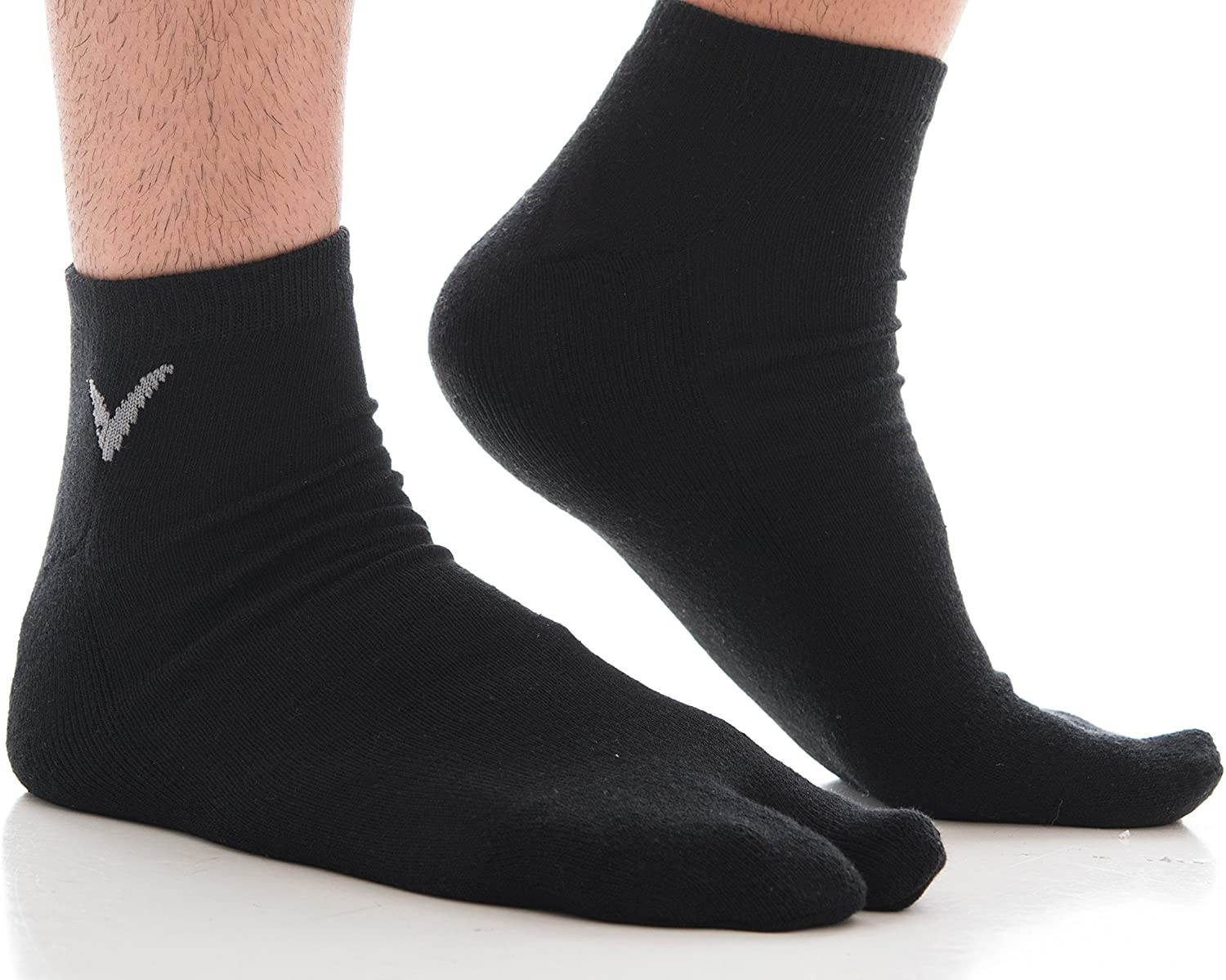 V-Toe Athletic Flip Flop Japanese Tabi Socks Men And Women Sports or Casual Thicker Cotton