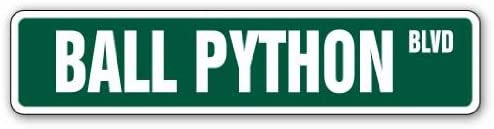 Ball Python Street Sign Snake Reptile Signs boa Lover | Indoor/Outdoor |  36