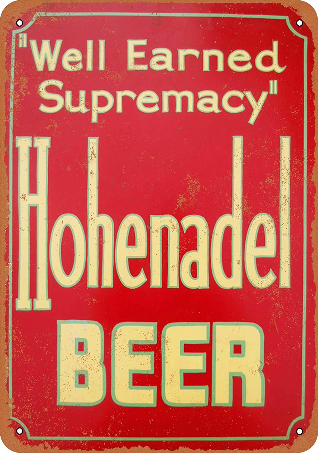 Yousigns Hohenadel Beer Metal Tin Sign 12 X 8 Inches Retro Vintage Decor