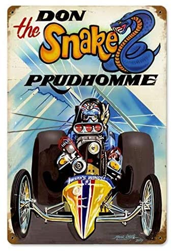 Metal Signs Vintage Prudhomme The Snake Coffee Shop Garage Indoor Pub Beer 8 x 12 Inch Tin Sign Wall Decor