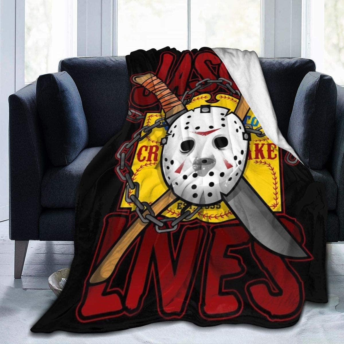 Jason-Voorhees Soft Plush Throw Blanket Super Fuzzy Warm Lightweight Thermal Fleece Blankets for Couch Bed Sofa All Season