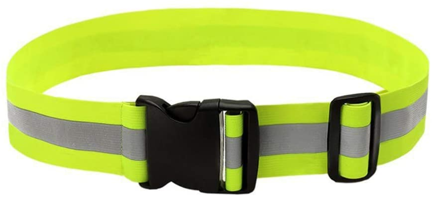 BESPORTBLE Sports Reflective Gear Elastic Reflective Bands for Wrist Arm Ankle Leg Adjustable High Visibility Belt for Night Walking Cycling Running Riding Jogging (Fluorescent Yellow)