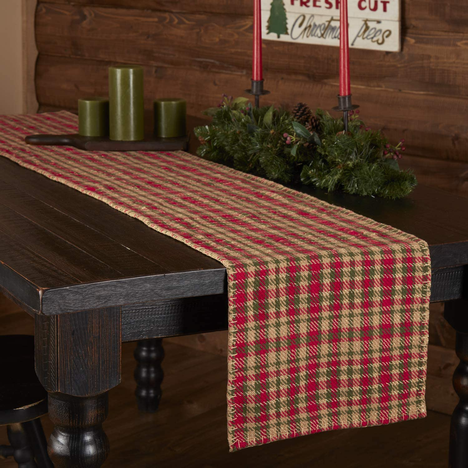 Christmas Holiday Tabletop & Kitchen - Claren Red Runner, 13