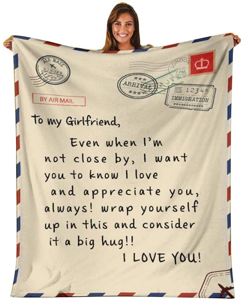 Coolbiz Throw Blanket with Inspirational Message Blanket Recovery Blanket Gift to My Wife Son Daughter Granddaughter Girl Friend