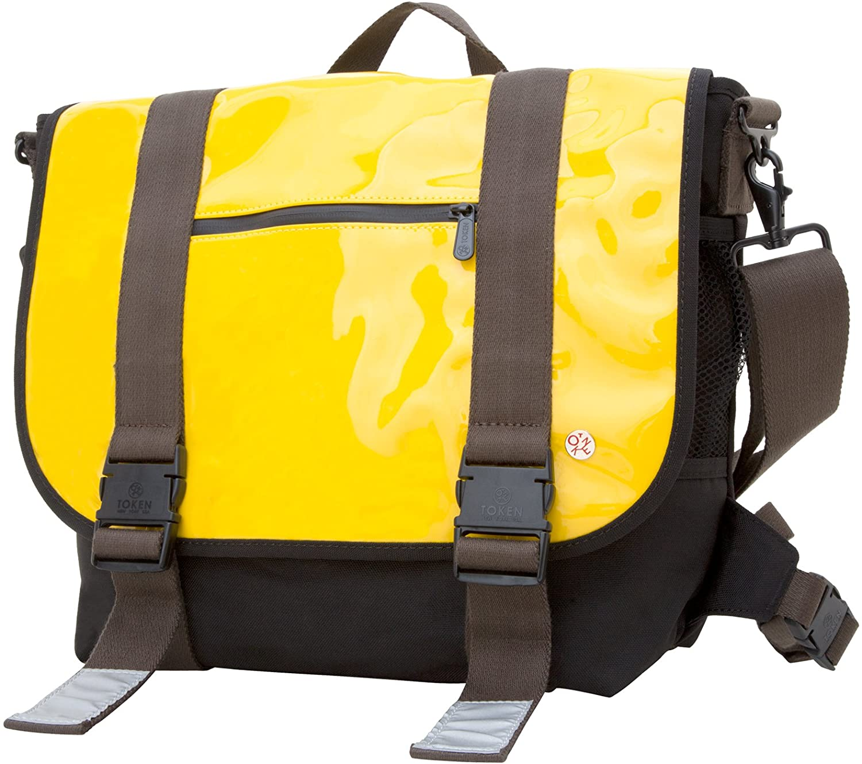 Token Bags Lorimer Enamel Messenger Bag, Yellow, One Size