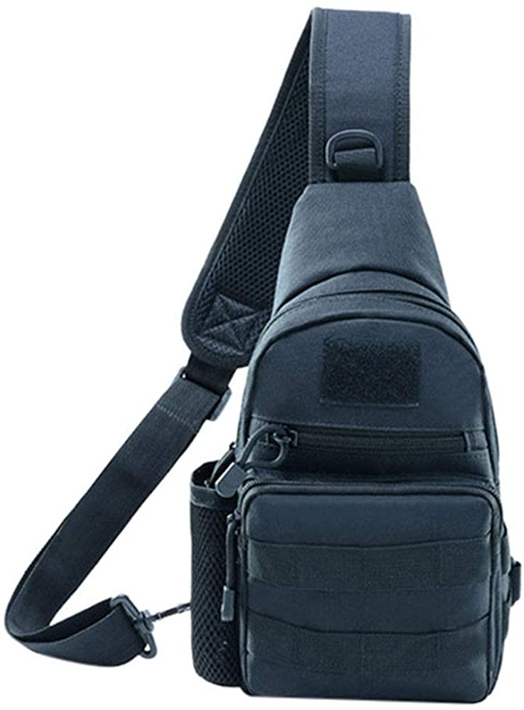 Mens Sling Bag Lightweight Tactical Crossbody Chest Shoulder Bag Daypack for Travel Hiking Cycling