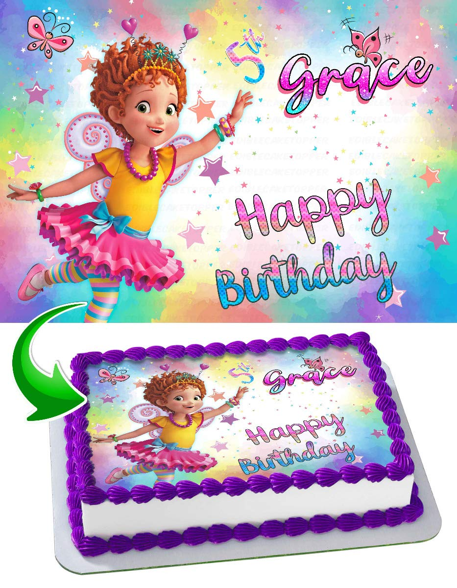 Fancy Nancy Edible Image Cake Topper Party Personalized 1/4 Sheet