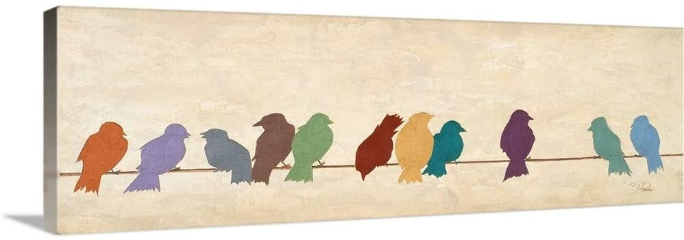 Birds Meeting Canvas Wall Art Print, 36