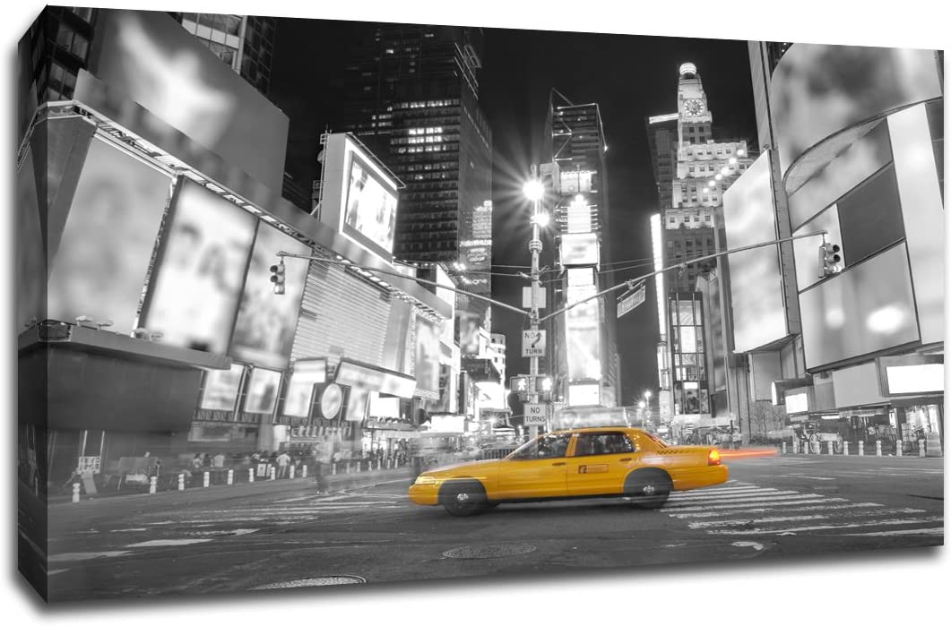 Times Square New York City - Touch of Color - 30x20 Gallery Wrapped Canvas Wall Art TOC