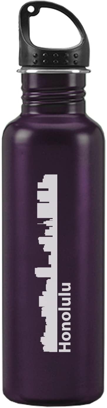 Honolulu, Hawaii-24 ounce Sport Water Bottle-Purple