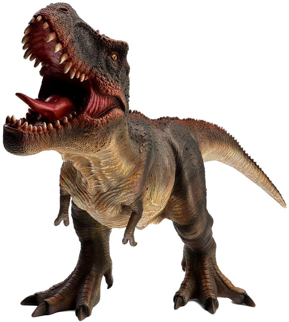 """Tyrannosaurus Rex Toy Figure - 18"""" Realistic Sculpting - Hand Painted - T Rex with Fine Details with Red Spikes and Fierce Eyes, Teeth and Scales - Predatory Raptor Cretaceous Period Dinosaurs Toys"""