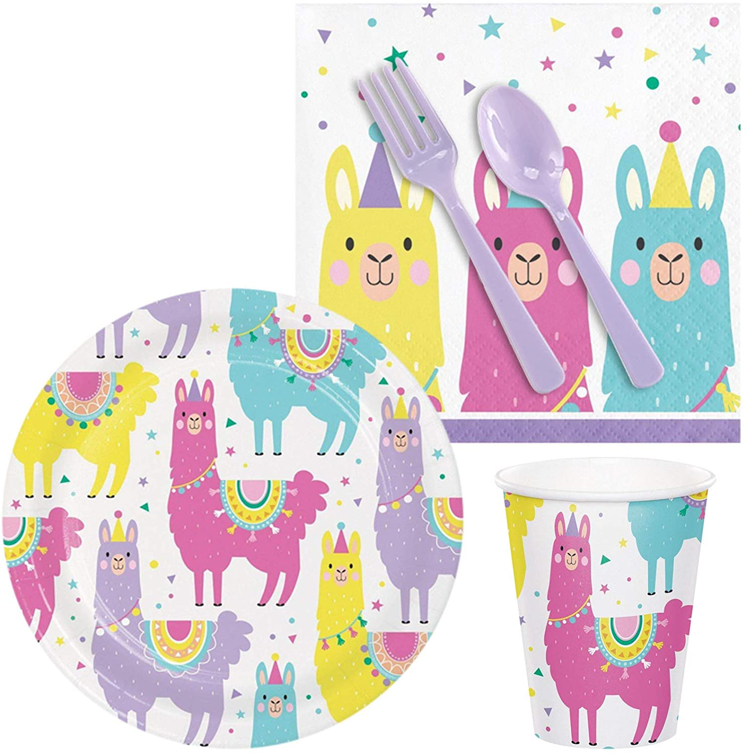 BirthdayExpress Llama Party Supplies Snack Pack for 16