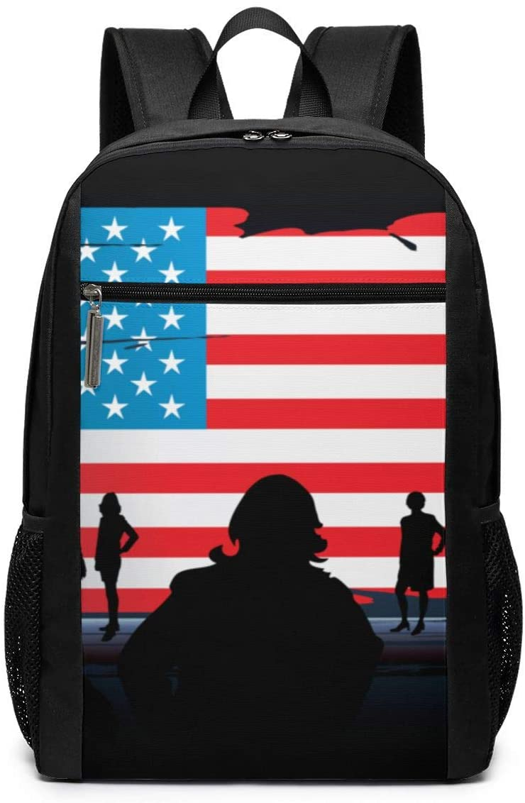 Women Men Boys Girls Outdoor Camping Travel Backpack Multi-Purpose Rucksack Fits Up To 17 Inch For College School Students Business - American Flag Hero