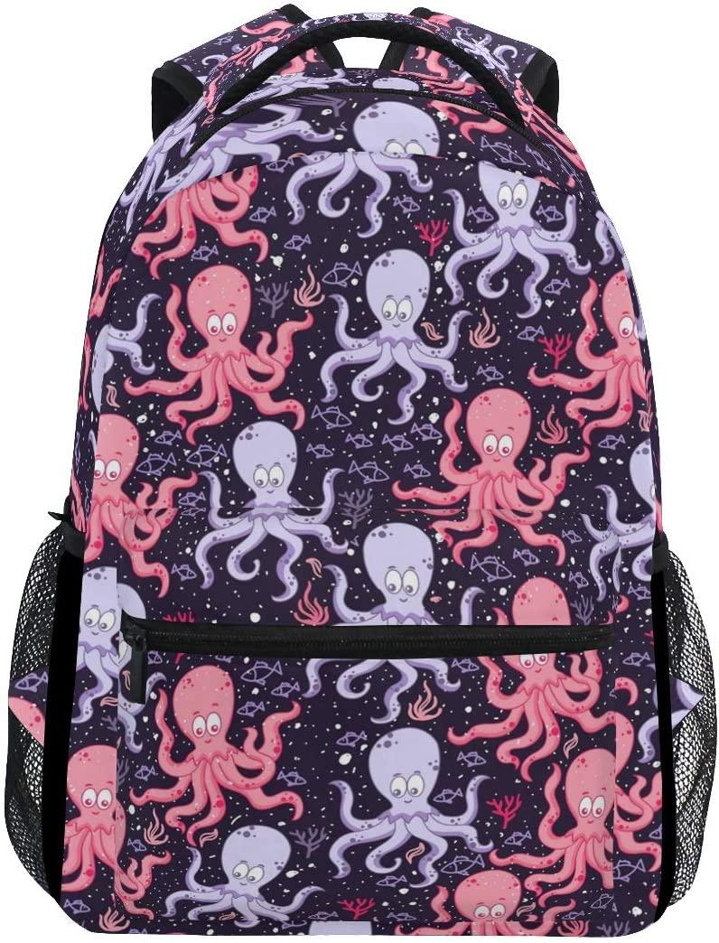 Stylish Octopus Backpack- Lightweight School College Travel Bags, ChunBB 16 x 11.5 x 8