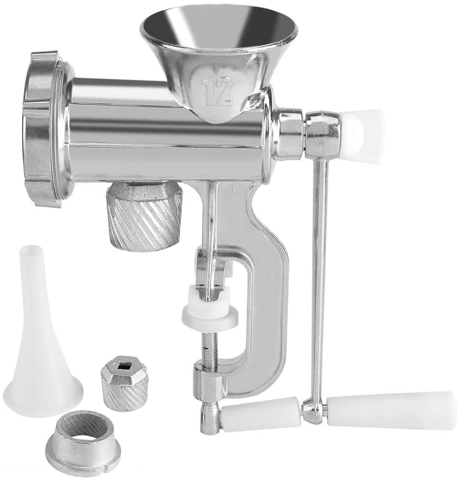 Stainless Steel Manual Multifunction Meat Grinder Chopper Mincer Sausage Maker Home Kitchen Tool Sausage Stuffer for Homemade