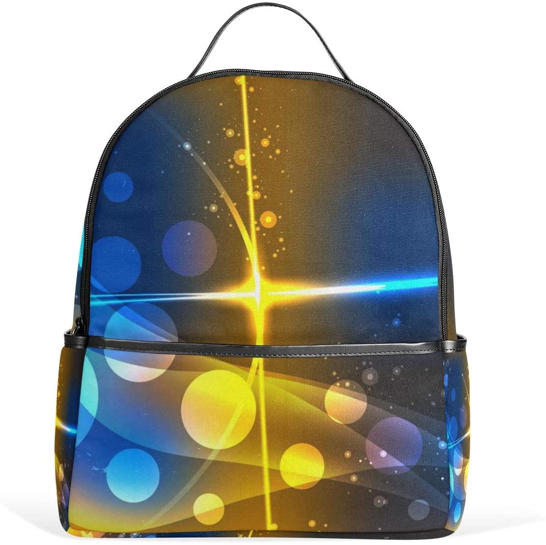 Kids' School Backpack Orange Blue Light Bookbag for Boys Girls Lightweight Casual Travel Bag Large Capacity Daypack