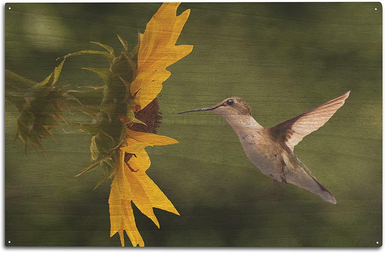 Lantern Press Hummingbird (10x15 Wood Wall Sign, Wall Decor Ready to Hang)