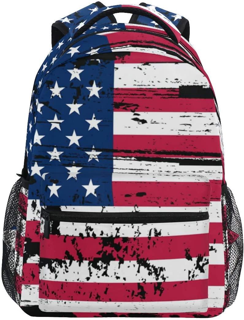 Mr.Lucien American Flag Backpack School Backpack for Boys 2021365