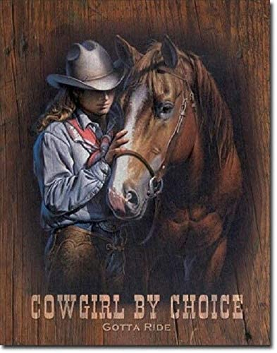 Wenyisign Cowgirl by Choice Western Rodeo Cowboy Rustic Retro Home Decor - 8