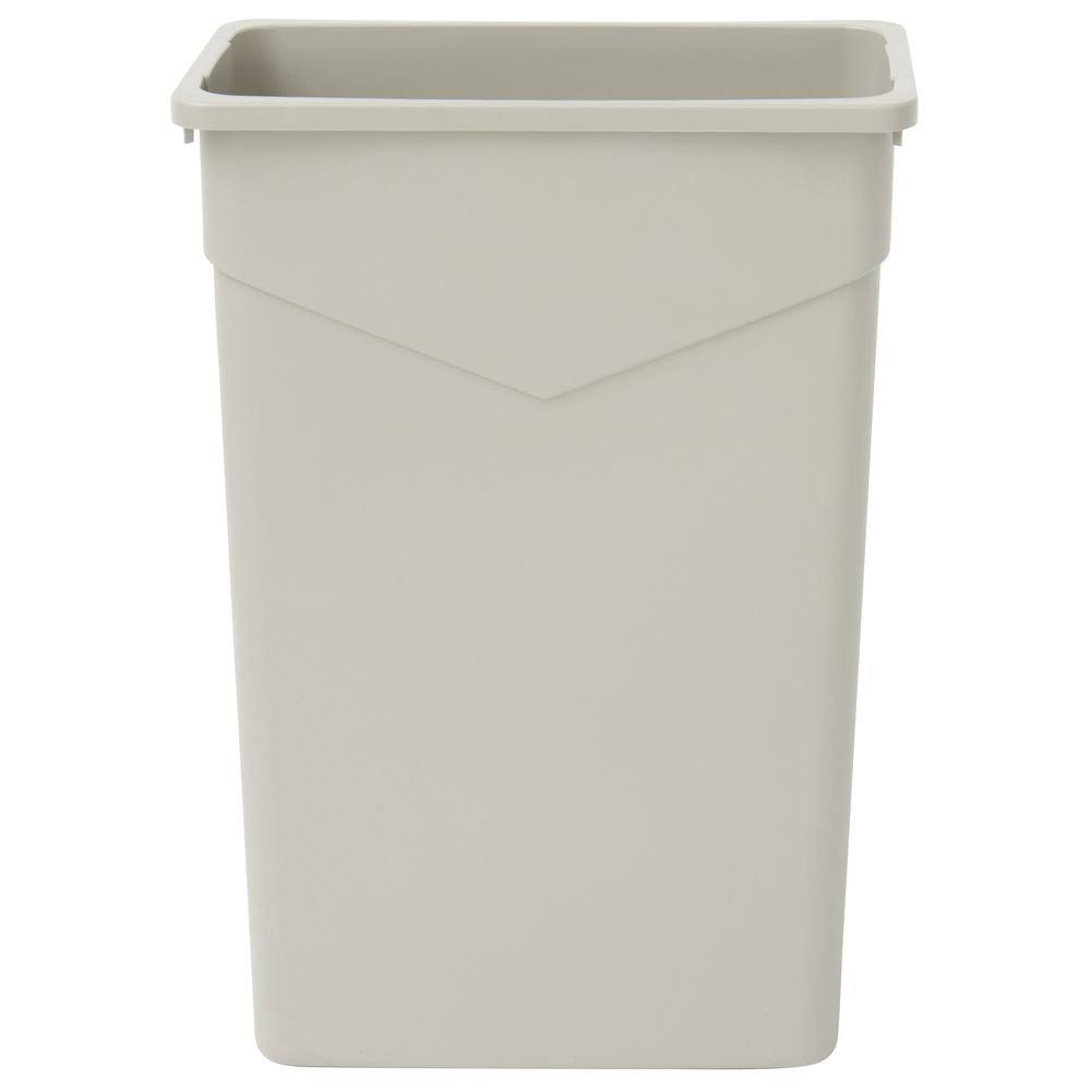 HUBERT Trash Receptacle Garbage Can Narrow Slim 23 Gallon in Beige - 20 1/4 L x 11 3/4 W x 30