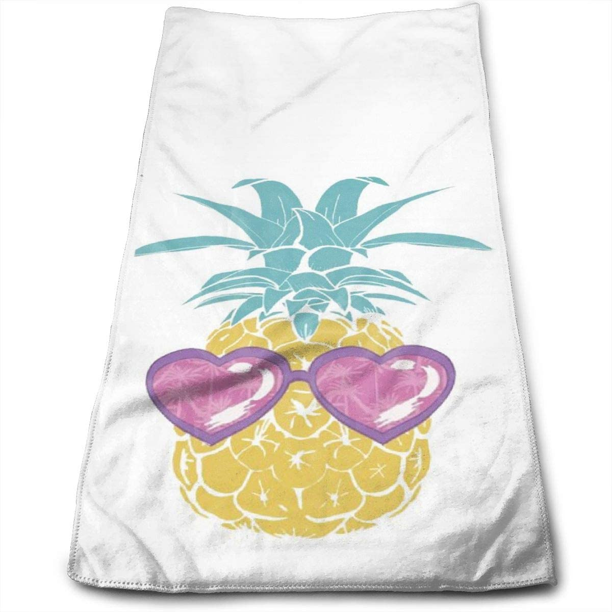 Fade-Resistant Hand Towel Pineapple with Sunglass Decorative Towels for Bath, Hand, Face, Gym and Spa