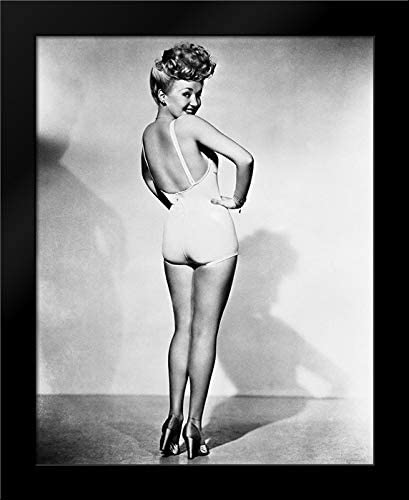 Unknown 20x24 Black Modern Framed Art Print Titled Betty Grable 1944 WWll Pinup Girl