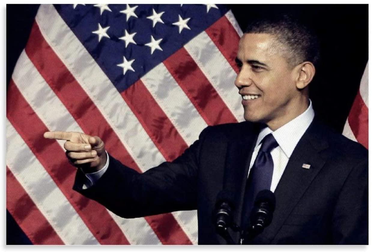 President Barack Obama Abolished Black Slavery Wall Art Prints Office and Home Renovation 12x18inch(30x45cm)