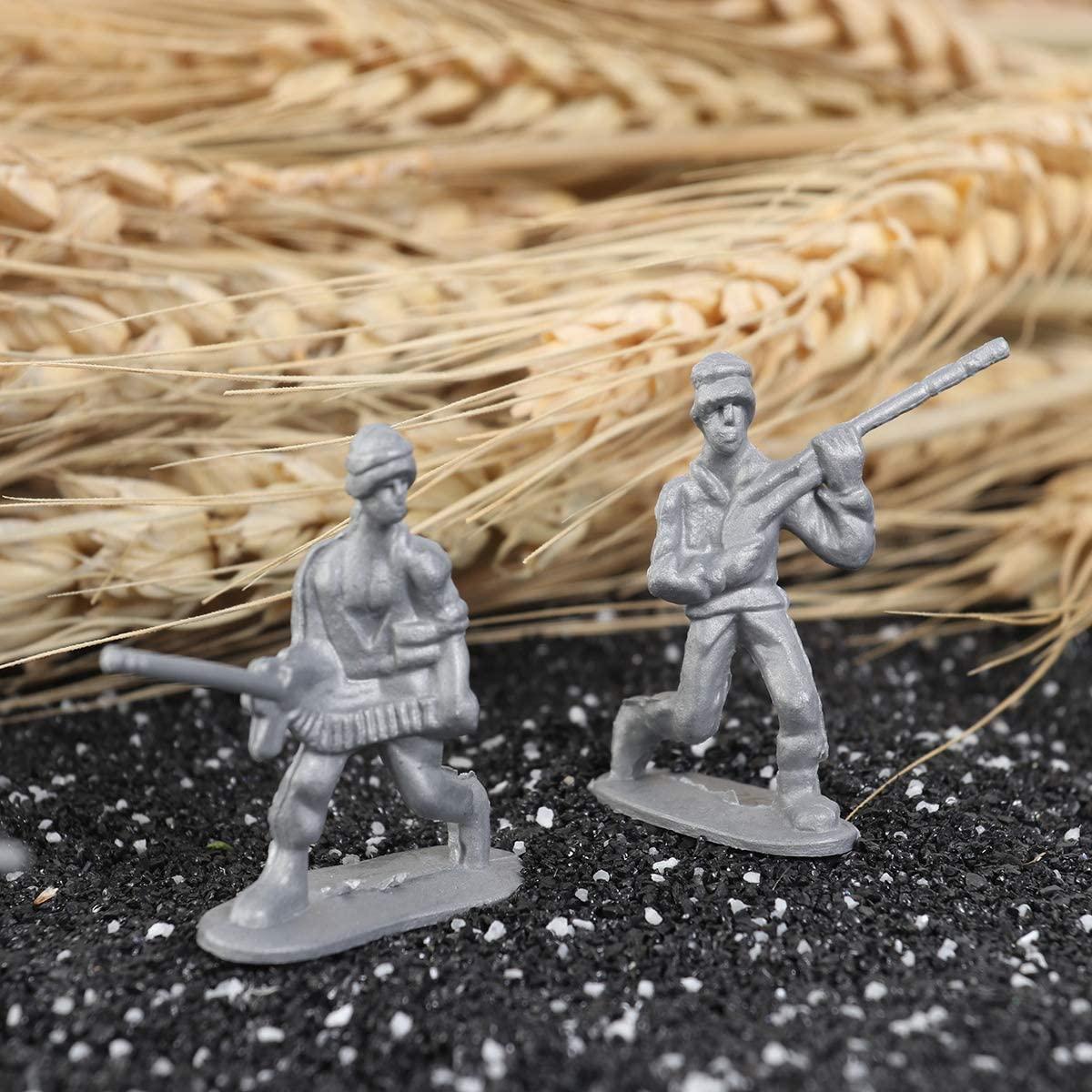 TOYANDONA 100pcs Soldiers Figures Static Plastic Military Army Men Model Party Favor Figures Play Set Accessories for Kids(Random Color)