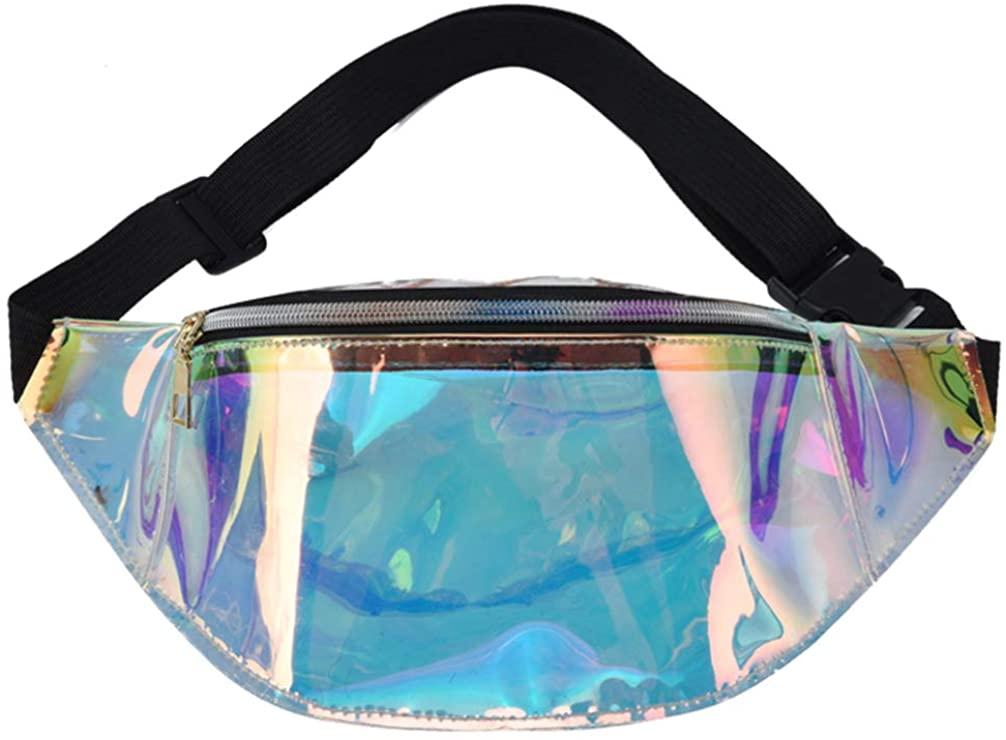 KESYOO Transparent Waist Bag TPU Shoulder Bag Fanny Pack TPU Bag for Lady Woman