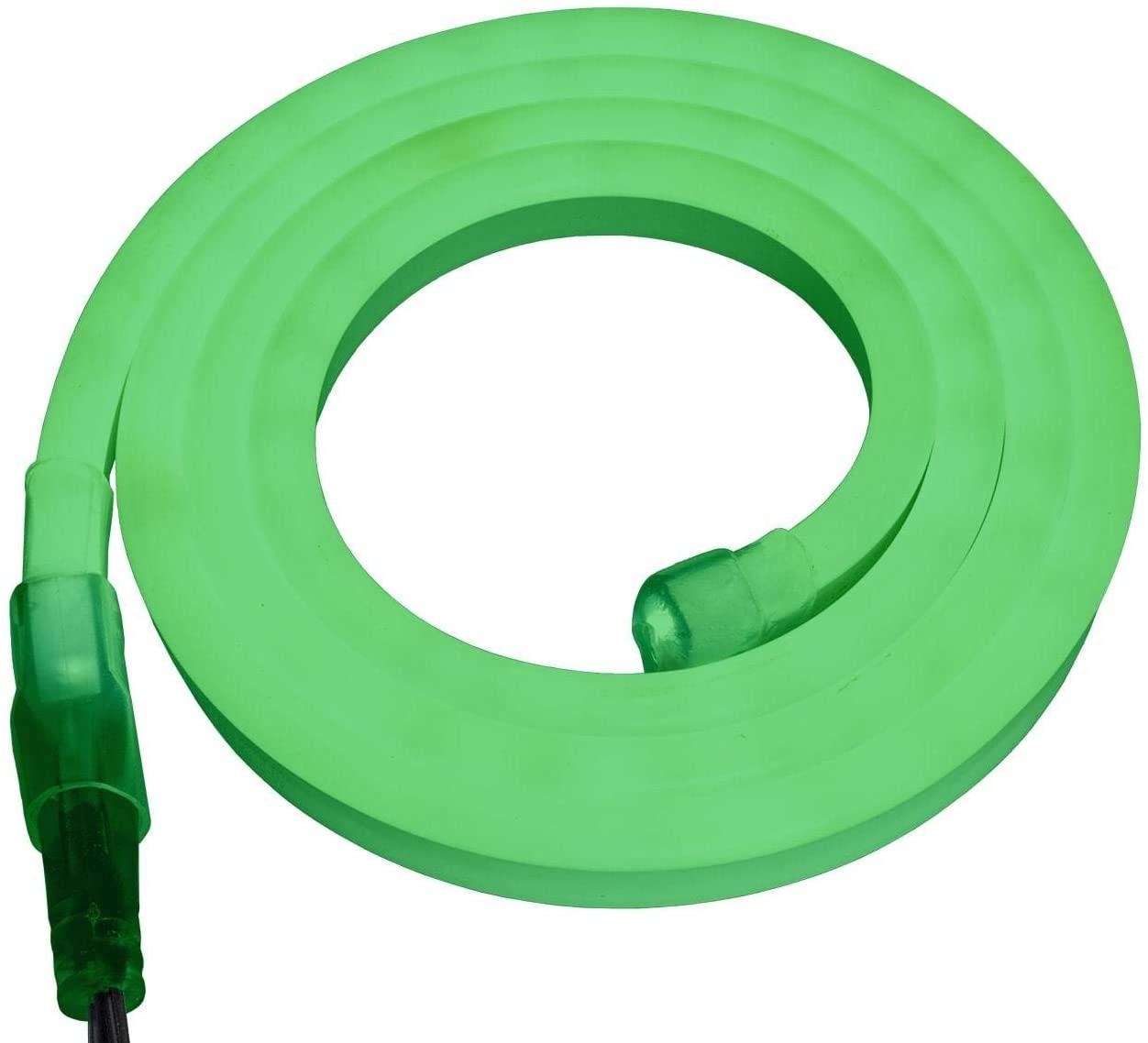 Brilliant Brand Lighting Green SMD LED Neon Strip Light - 120 Volt - Custom Cut - 18.04 Feet