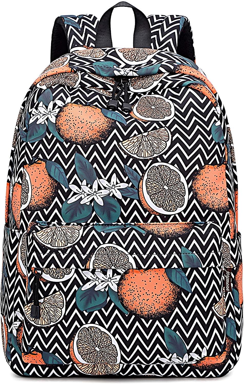 Joymoze Children Backpack for Boy and Girl Lightweight School Backpack for Teenage Orange