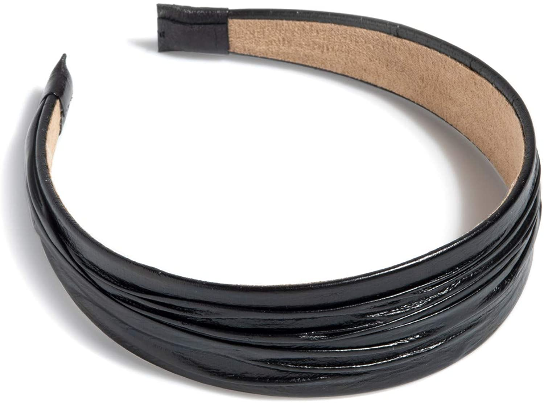 Shiraleah Faux Leather Headband- Black
