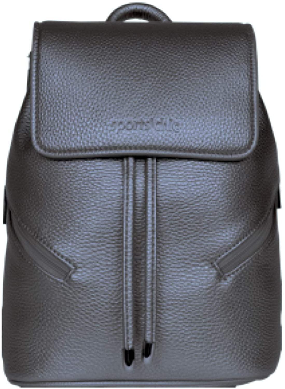 SportsChic Women's Vegan Mini Backpack (Pewter)