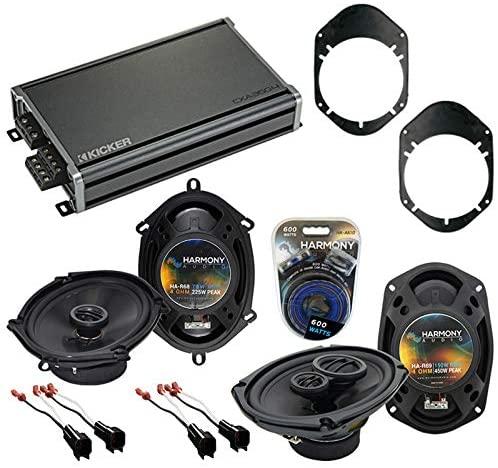 Compatible with Mercury Grand Marquis 98-02 OEM Speaker Replacement Harmony Audio Bundle R68 R69 & CXA360.4 Amp