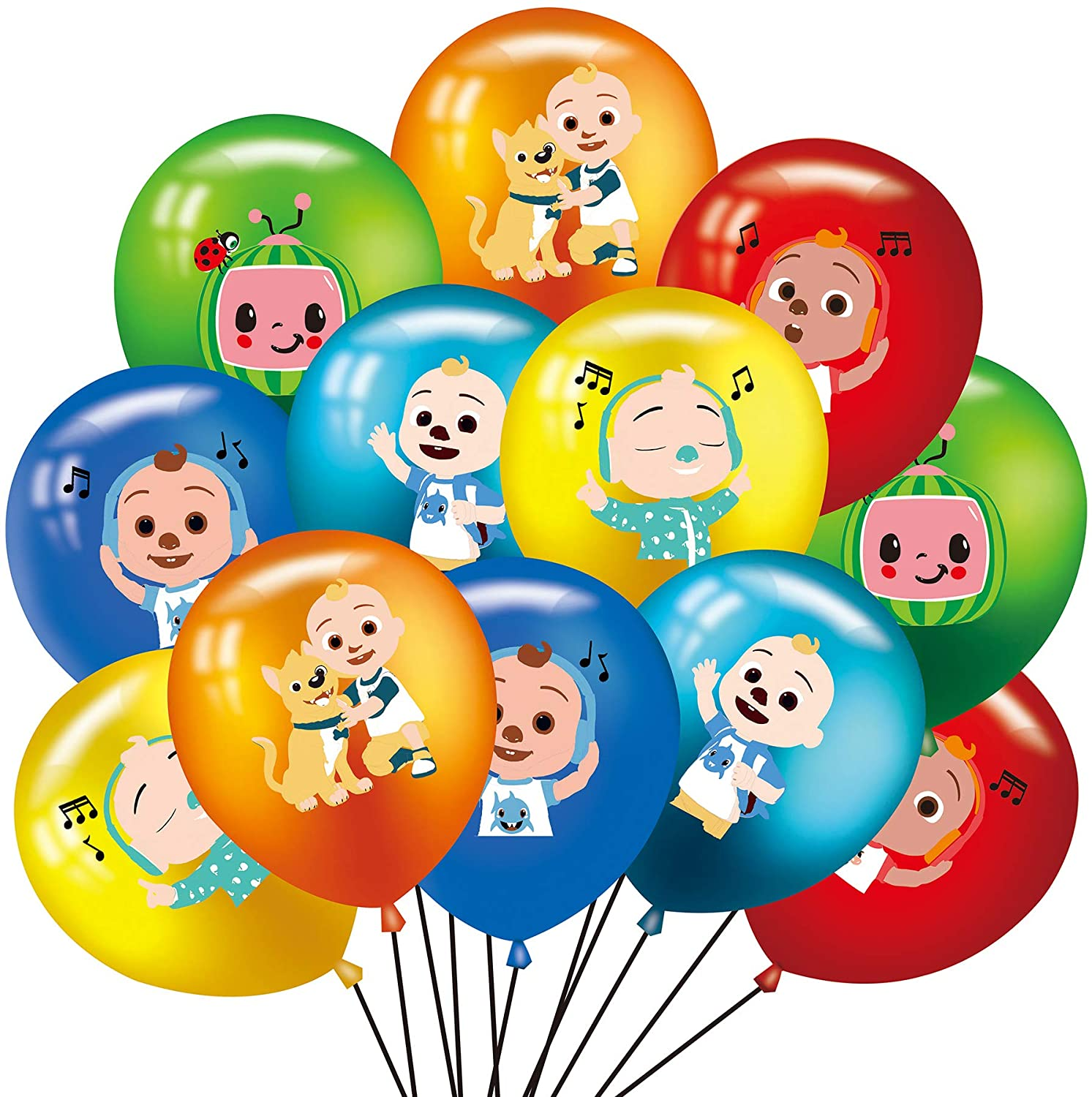 48PCS COCOMELON Balloons, Latex Party Balloons with cocomelon The Theme Birthday Party Supplies and Decorations, 12-inch latex balloons Party Decoration Kids Boys and Baby Shower Birthday Party Favors